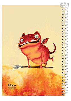 دفتر 100 برگ تک خط وزیری سیمی جلد نرم مجلد الیپون 2413270