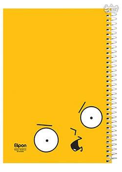 دفتر 60 برگ تک خط وزیری سیمی جلد نرم مجلد الیپون 2242215