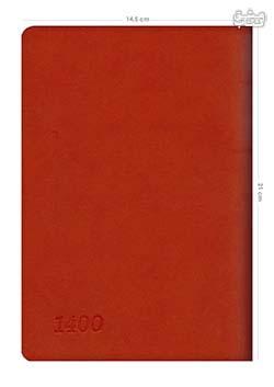 سررسید رقعی 1400 ترمو قرمز 21+14/5 cm
