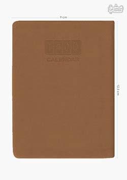 سررسید جیبی 1400 ترمو قهوه ای 12/5+9 cm