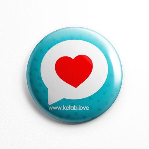 پیکسل عشق کتاب قلب قرمز فیروزه ای (کد 147)