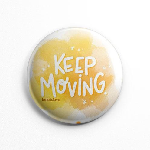 پیکسل عشق کتاب Keep Moving زرد (کد 153)