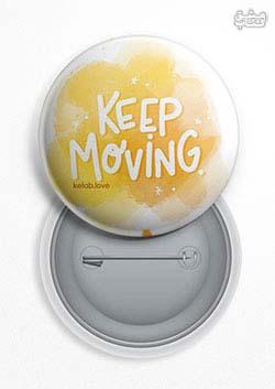 پیکسل عشق کتاب Keep Moving زرد (153)