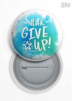 پیکسل عشق کتاب Never Give Up آبی (154)