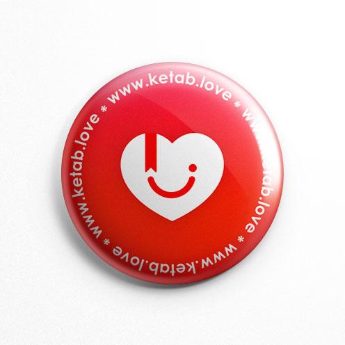 پیکسل عشق کتاب قرمز لوگو (کد 103)