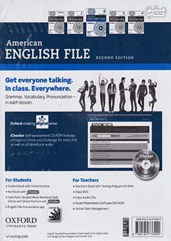 جنگل امریکن اینگلیش فایل 2 American English File 2nd 2 SB+WB+2CD+DVD