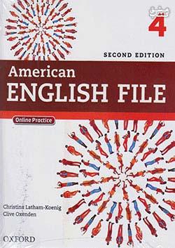 جنگل امریکن اینگلیش فایل 4 American English File 2nd 4 SB+WB+2CD+DVD - Glossy Papers