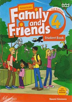 جنگل فامیلی اند فرندز 4 American Family and Friends 2nd 4 SB+WB+CD+DVD