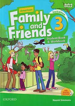 جنگل فامیلی اند فرندز 3 American Family and Friends 2nd 3 SB+WB+CD+DVD