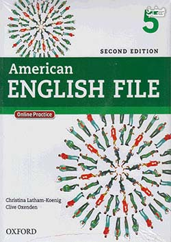 جنگل امریکن اینگلیش فایل 5 American English File 2nd 5 SB+WB+2CD+DVD - Glossy Papers